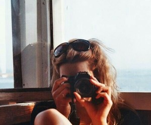 camera, girl, and people image
