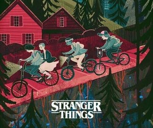 stranger things, wallpaper, and series image