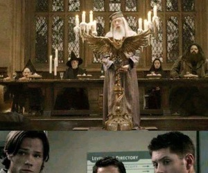 supernatural, harry potter, and funny image