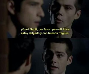 stiles, scott, and teen wolf image