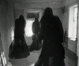creepy, black, and black and white image