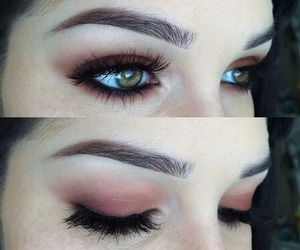 eyes, peachy, and eyeshadow image