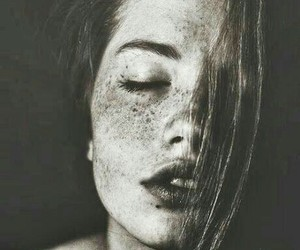beautiful, freckles, and skin image