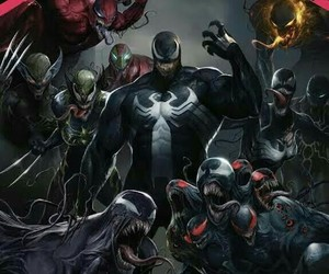 comic, Marvel, and venom image