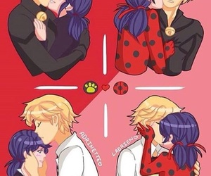 Chat Noir, ladybug, and ladynoir image