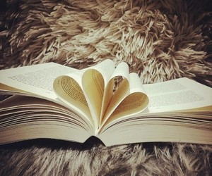 books, heart, and instagram image
