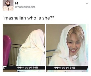 hijab, jin, and rap monster image