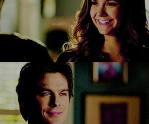 Vampire Diaries, damon salvatore, and delena image