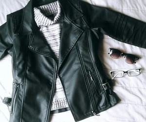 clothing, cool, and black and white image