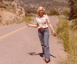 1970s, blonde, and wedges image