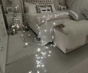 bedroom, hermoso, and grey image