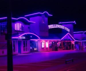 neon, glow, and purple image