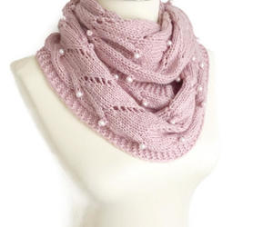 etsy, pink scarf, and knitted scarf image