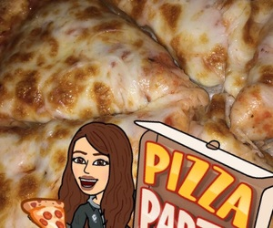 food, pizza, and snapchat image