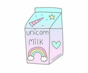 unicorn, milk, and overlay image