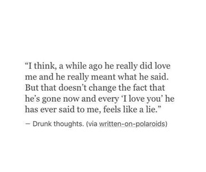 drunk, quote, and love image