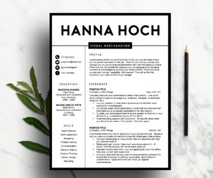 fashion resume, black and white, and etsy image