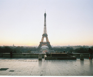dusk, eiffel tower, and france image