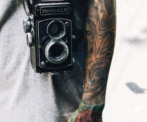 camera, tattoo, and cool picture image