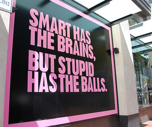 quote, stupid, and pink image