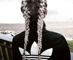 adidas, hair, and braid image