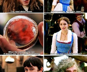 beauty and the beast, harry potter, and emma watson image