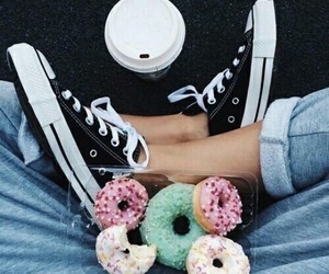 donuts, food, and converse image