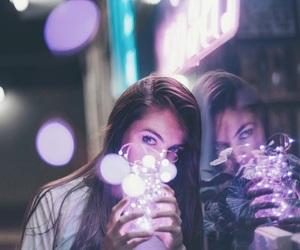 light, girl, and purple image