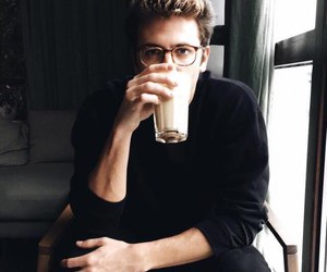 boy, coffee, and drink image