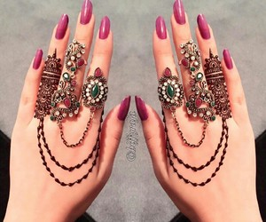 beautiful, hands, and rings image