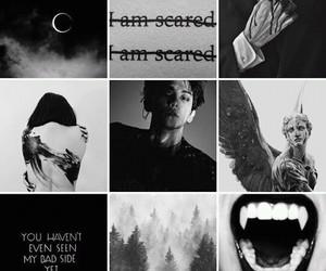 angel, black&white, and exo image
