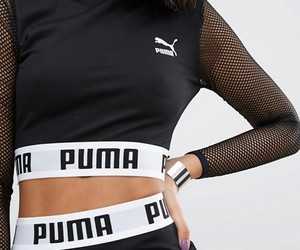 black, puma, and cropped image