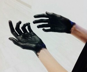 black, hands, and grunge image