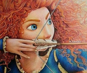 disney, brave, and drawing image