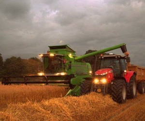 combine, farm, and tractor image