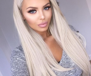 blonde, girl, and beauty image