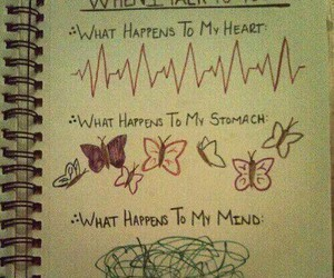 love, butterfly, and heart image