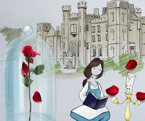 art, beauty and the beast, and castle image