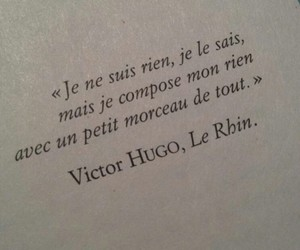 victor hugo and text image