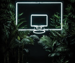 neon, Basketball, and green image