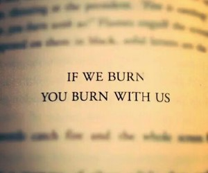 mockingjay, burn, and quotes image