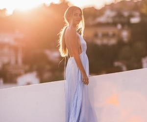 blonde, outfit, and dress image