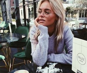 fashion, girl, and glasses image