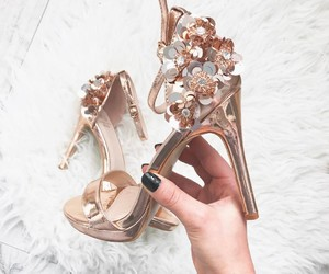fashion, flowers, and gold image