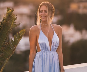 blonde, hair, and dress image