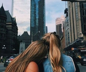 bff, city, and friendship image