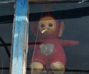 cigarette and teletubbies image