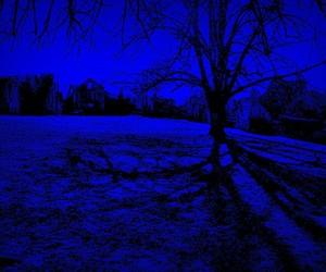 blue, neon, and dark image