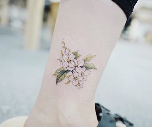 aesthetic, soft, and flower tatto image