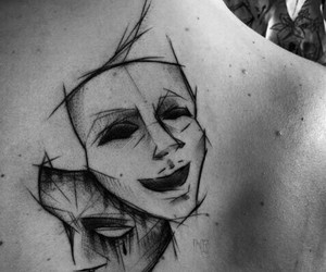 tattoo, mask, and art image